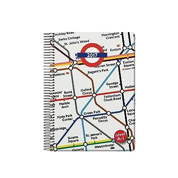 Dohe 12324 British - Agenda 2017, día página, 15 x 21 cm