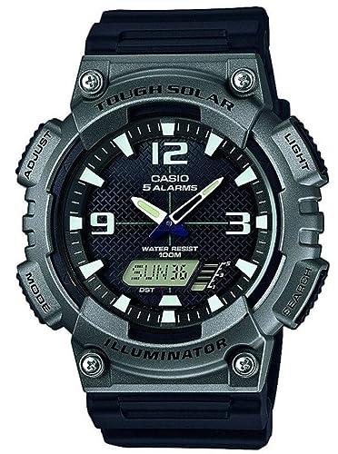 Casio Reloj Analógico-Digital para Hombre de Energía Solar con Correa en Plástico AQ-S810W-1A4VEF: Amazon.es: Relojes