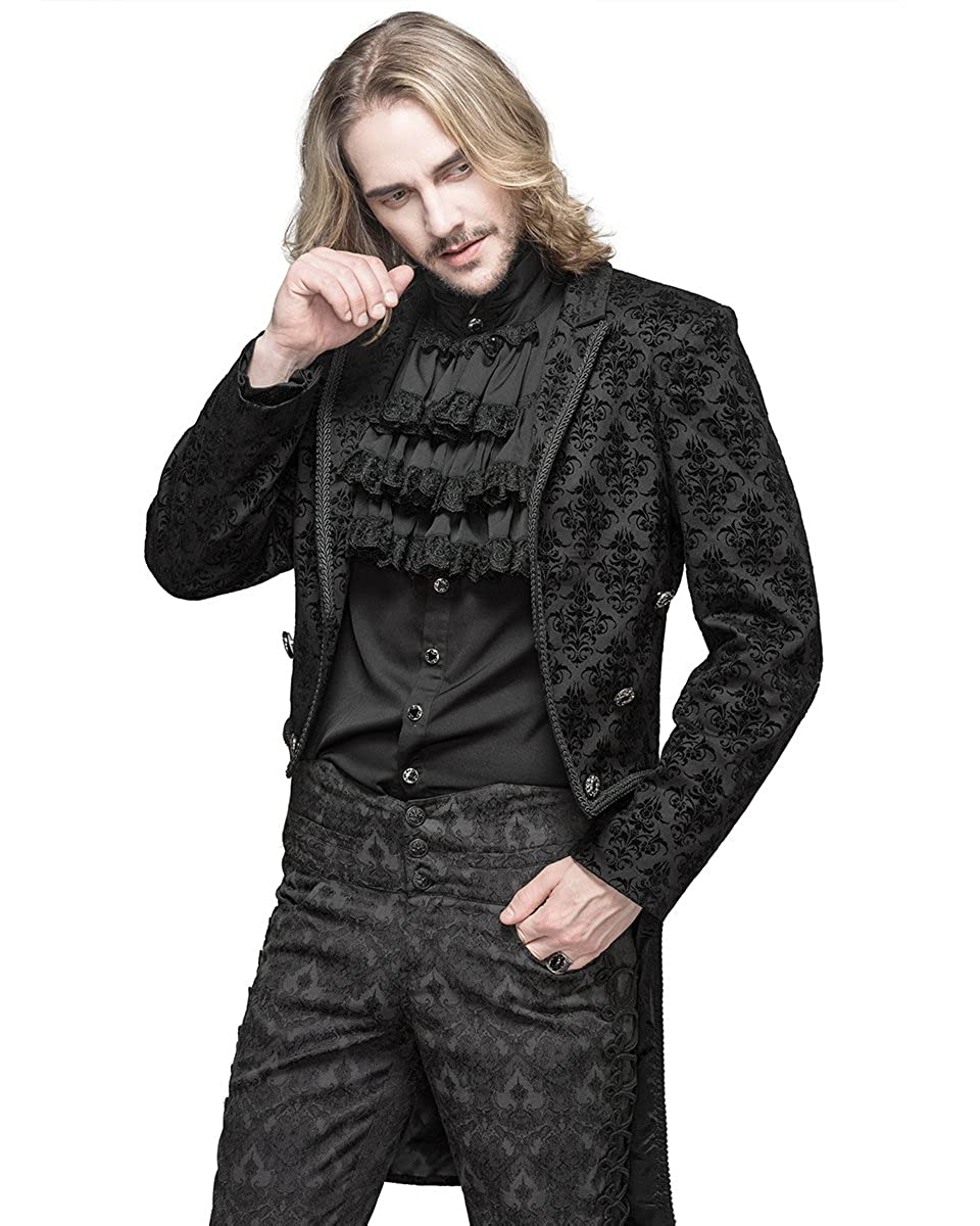 Devil Fashion Hombre Gótico FRAC Chaqueta Negra Damasco Steampunk Regency Boda - Negro, XXX-Large: Amazon.es: Ropa y accesorios