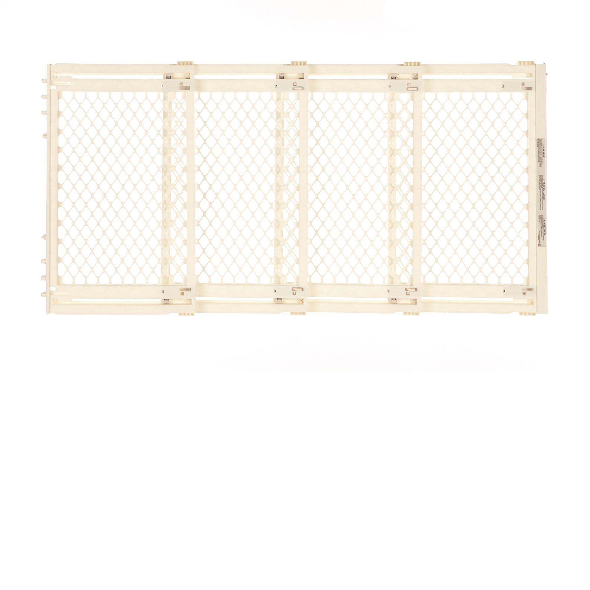 North States Extra Wide Petgate, Ivory, 12.64 LB, White by North States