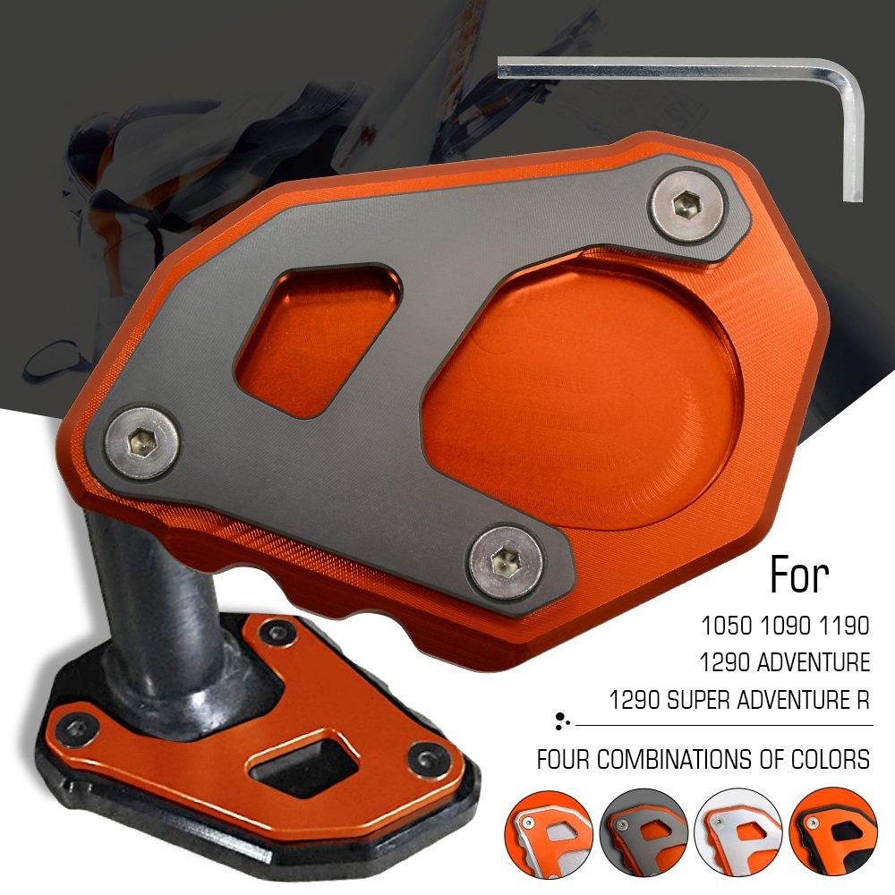 Plaque Extension B/équille lat/érale Pour KTM 1050 1090 1190 1290 Adventure ADV 1290 Super Adventure R Orange /& Titane