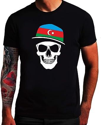 Camiseta de manga corta, diseño de calavera Azerbaiyán ...