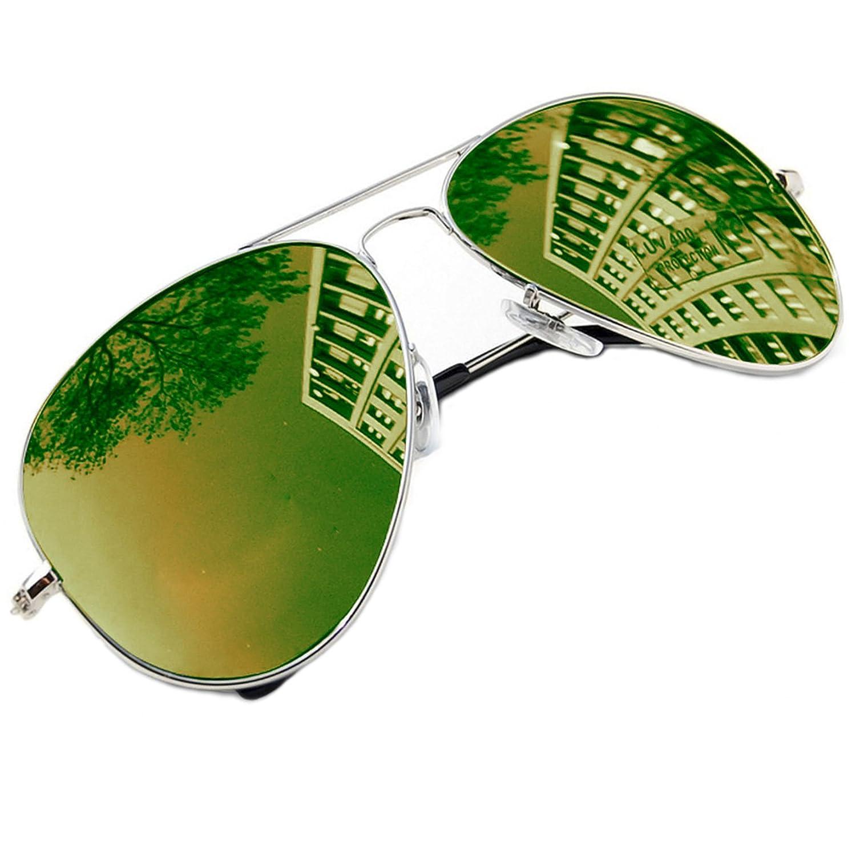 Unisex Stile pilota Occhiali Da Sole polarizzata Uomo Dona rispecchiata Sunglasses Sport Protezione ...
