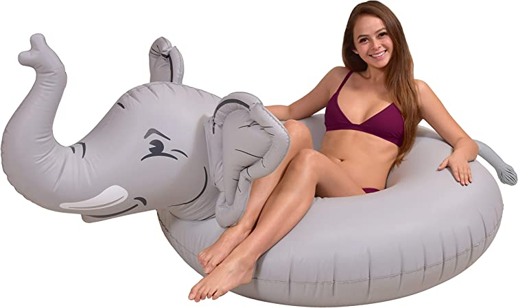 GoFloats Elephant Pool Float Party Tube - Inflatable Rafts for Adults & Kids