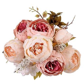 Pfingstrosen Trocknen amazon de houda künstlicher pfingstrosen strauß kunstblumen aus