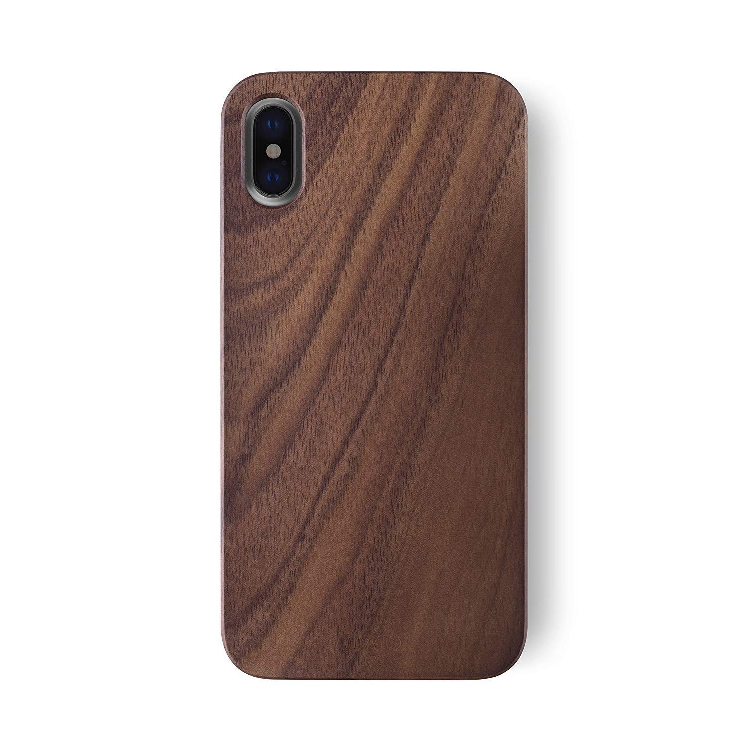 iATO iPhone XS/X Real Walnut Wood Case Wooden Premium Protective Cover - Unique, Stylish & Classy Snap-On Back Bumper Designed for iPhone XS (2018) and X / 10 (2017) - Supports Wireless Charging