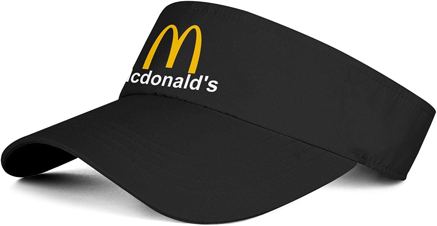 Men/Women Sun Visors Hats McDonald's-Logos-Symbol- Cute Adjustable Vent Cap