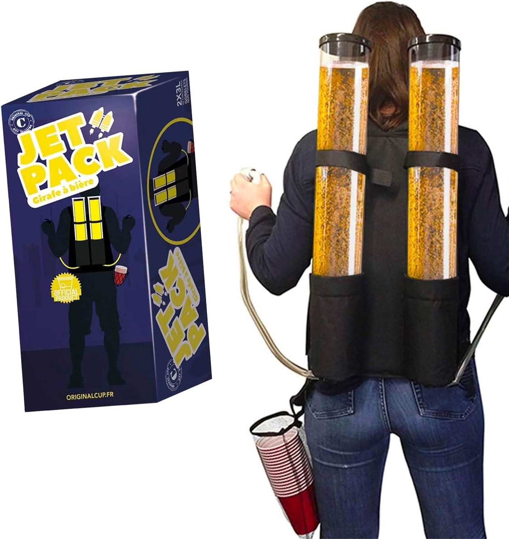 Original Cup - Dispensador de Cerveza, Mochilla de Cerveza, 2 x Depósitos de 3L, Juegos de Bebidas - Jetpack