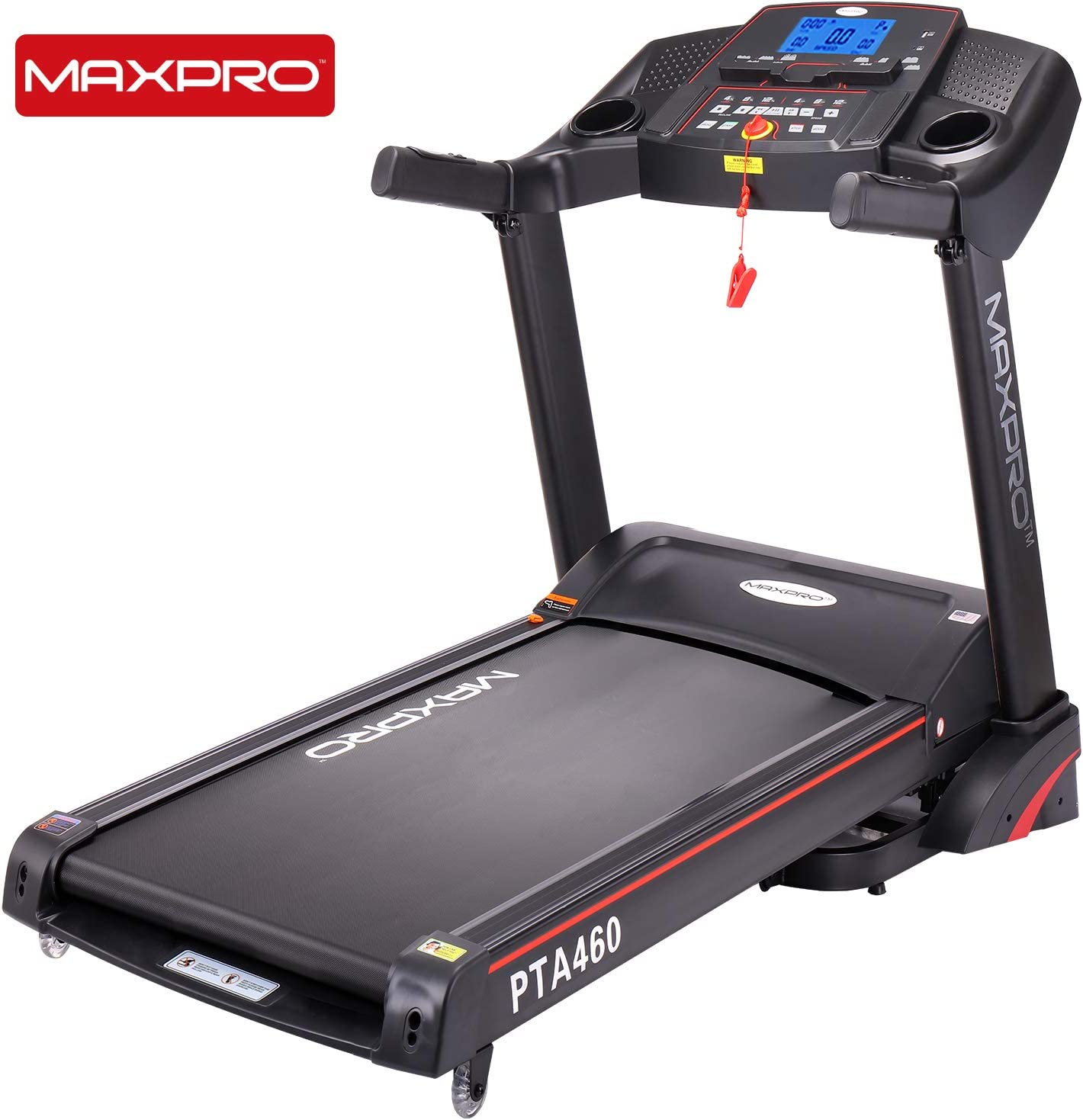 MAXPRO PTA460 2.5HP (5 HP Peak) Motorized treadmill
