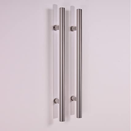 Attirant Pull Push 36 Inches Handles For Entrance Entry Front Door, Interior And  Exterior, Satin