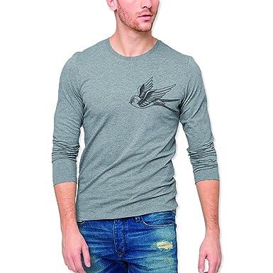 VIENTO The Golondrine Herren T-Shirt Mit Langen Ärmeln  Amazon.de   Bekleidung b701eb6e2e