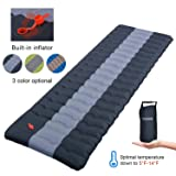 YSXHW Self Inflating Camping Pads Thick 4.7 Inch Lightweight Camping Sleeping Pad Ultralight,Compact, Waterproof PVC Inflatable Mat for Tent, Hiking and Backpacking -Black Built in Pump (Color: Black)
