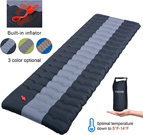 Self-Inflating Camping Mat Roll Inflatable Sleeping Pad Bed Fishing Hiking Tent