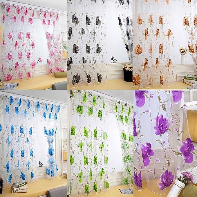 JiaMeng Cortina de Ventana de Puerta de Tul de Cenefas de pañuelo de Panel drapeado Decoración del hogar: Amazon.es: Hogar