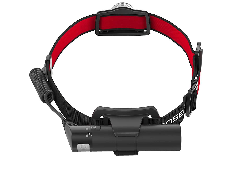 Red and Black 150 Meter Beam Distance Ledlenser H8R Rechargeable LED Headlamp 600 lumens max Medium