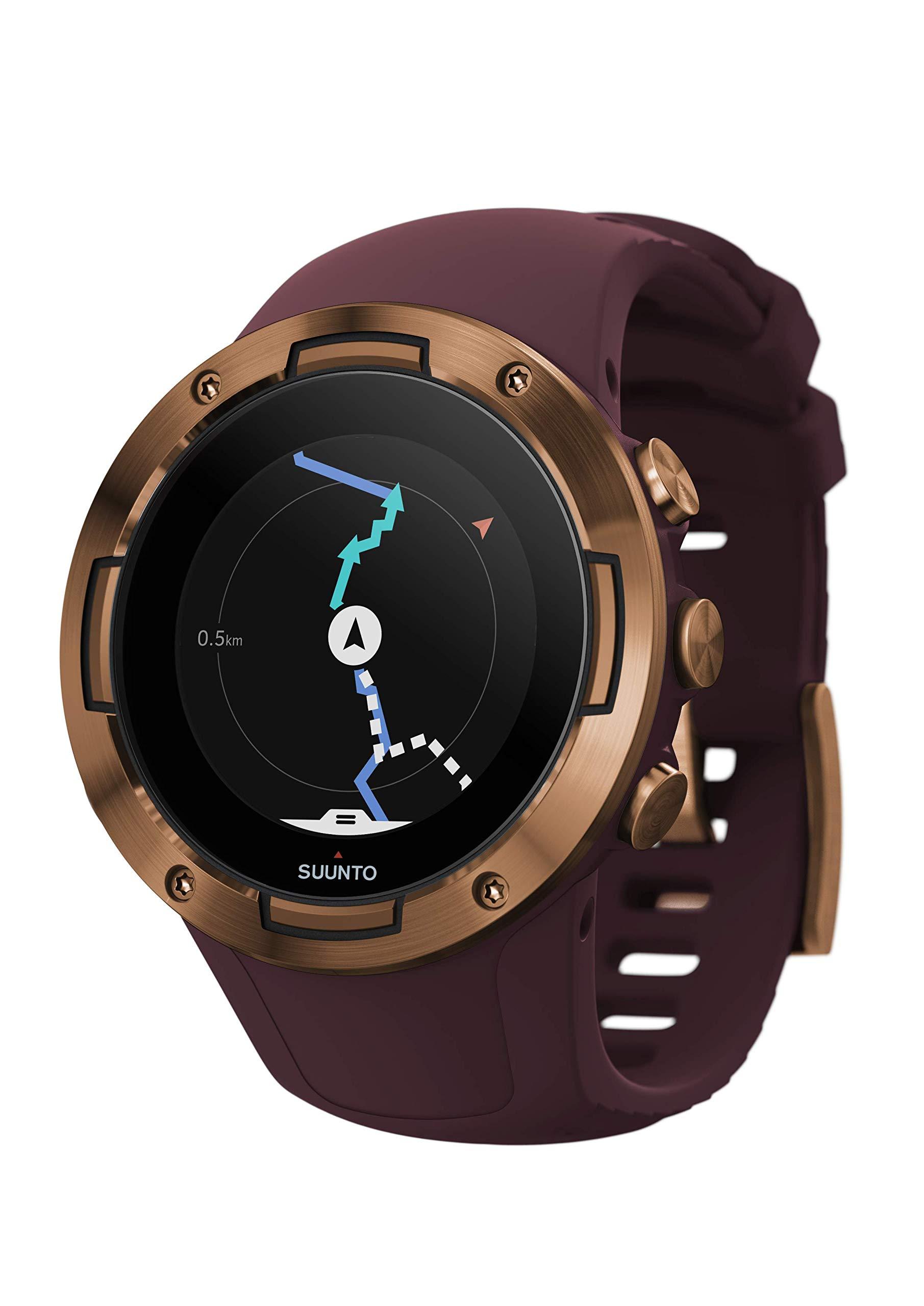 Suunto 5 Multisport GPS Watch with Wrist-Based Heart Rate Sensor Burgundy/Copper by SUUNTO