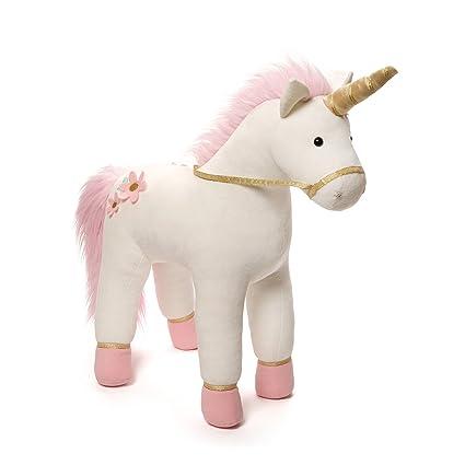Amazon Com Gund Lilyrose Unicorn Jumbo Stuffed Animal Plush 23