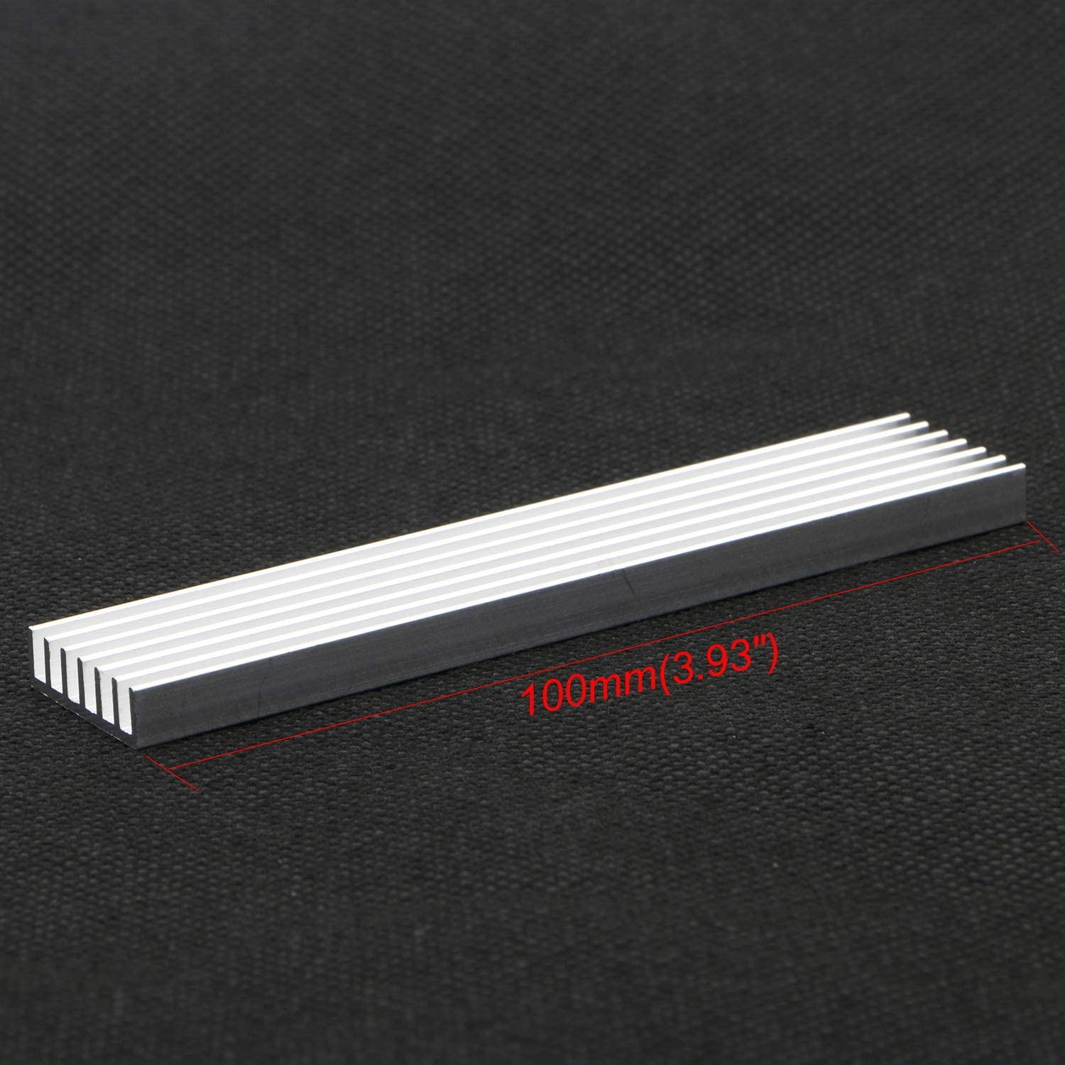 Xiangxin Cooler 16 Fins Heatsink Good Thermal Conductivity Stable Practical Durable for Power Electric Device Power Ic Led Light Devices 10010018Mm