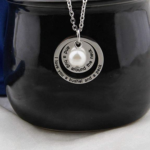 Gift For Mother Daughter Wife Girlfriend Y Infinity Lariat Necklace I Love You A Bushel And A Peck Necklace Gift For Her