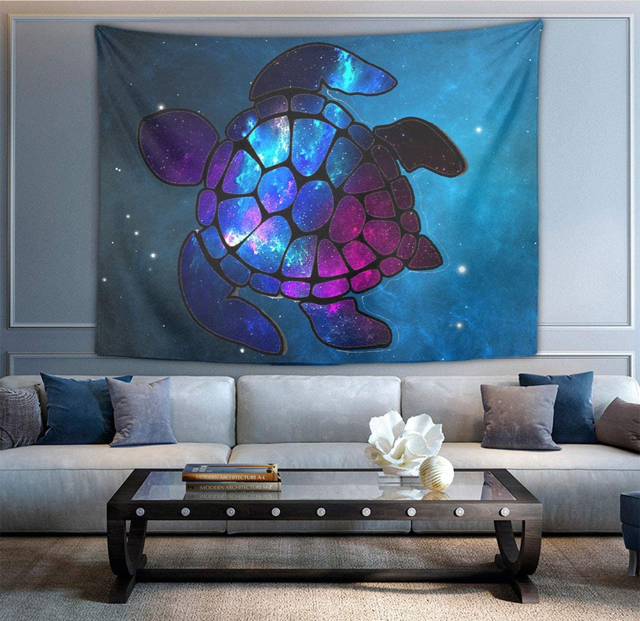 NiYoung Great Gift – Wall Blanket Wall Art – Sea Turtle Galaxy Tapestry Wall Tapestry Wall Art Decoration Home Decor for Bedroom, Dorm, College, Living Room 60 X 90