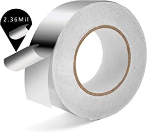 Industrial Grade Aluminum Foil Tape. 2.36 Mil x 2 Inches x 55 Yard. Self Adhesive, Perfect for Seal, Patch and Insulate Air Ducts (Hot and Cold), HVAC Pipe, Metal or Plastic Joint and Seams.