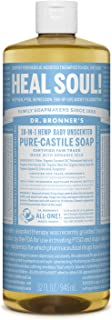 product image for Dr. Bronner's - Pure-Castile Liquid Soap (Baby Unscented, 32 Ounce) - Made with Organic Oils, 18-in-1 Uses: Face, Hair, Laundry and Dishes, For Sensitive Skin and Babies, No Added Fragrance, Vegan