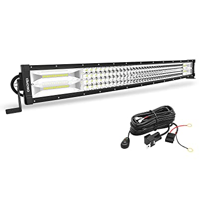 LED Light Bar Curved with Wiring Harness Quad-Row 28Inch 768W OEDRO Spot Flood Combo Led Lights Work Lights Fog Driving Light Off Road Light 12/24V Fit for Pickup Jeep SUV 4WD 4X4 ATV UTE TruckTractor: Automotive