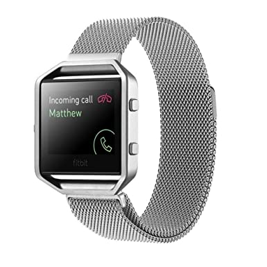KINGCOOL Fitbit banda de Blaze reloj con correa de banda de reloj de metal de acero