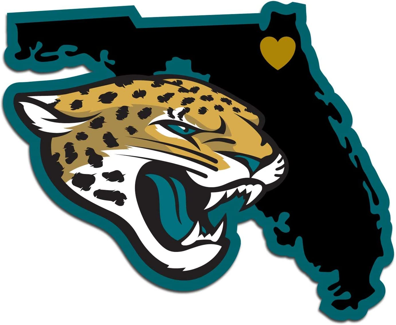 NFL Siskiyou Sports Fan Shop Jacksonville Jaguars Home State Decal One Size Team Color