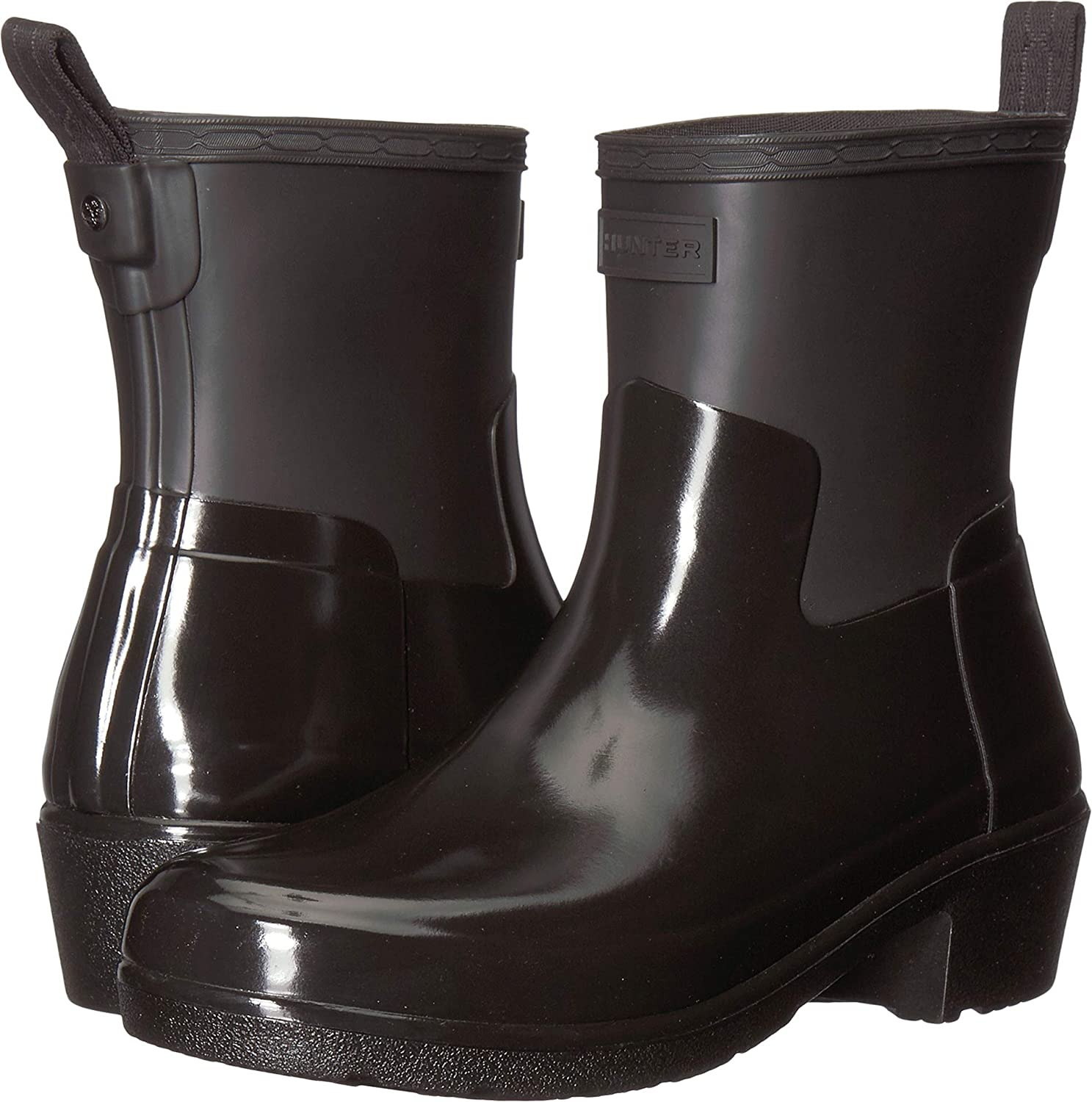 hunter low heel ankle boots