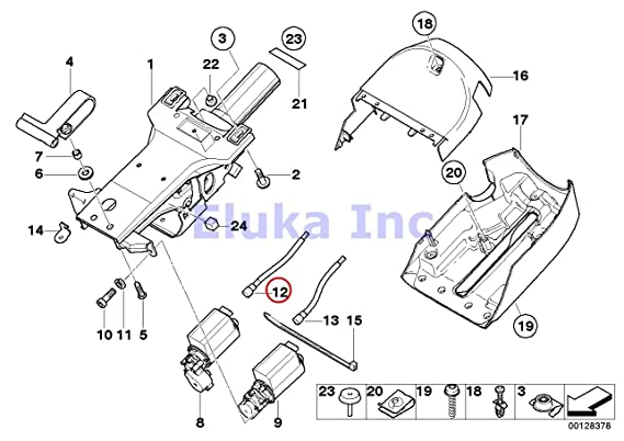Amazon Com Bmw Genuine Steering Column Adjustment Shaft