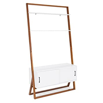 Amazon Com Best Choice Products 42in Modern Wooden Ladder Shelf Tv