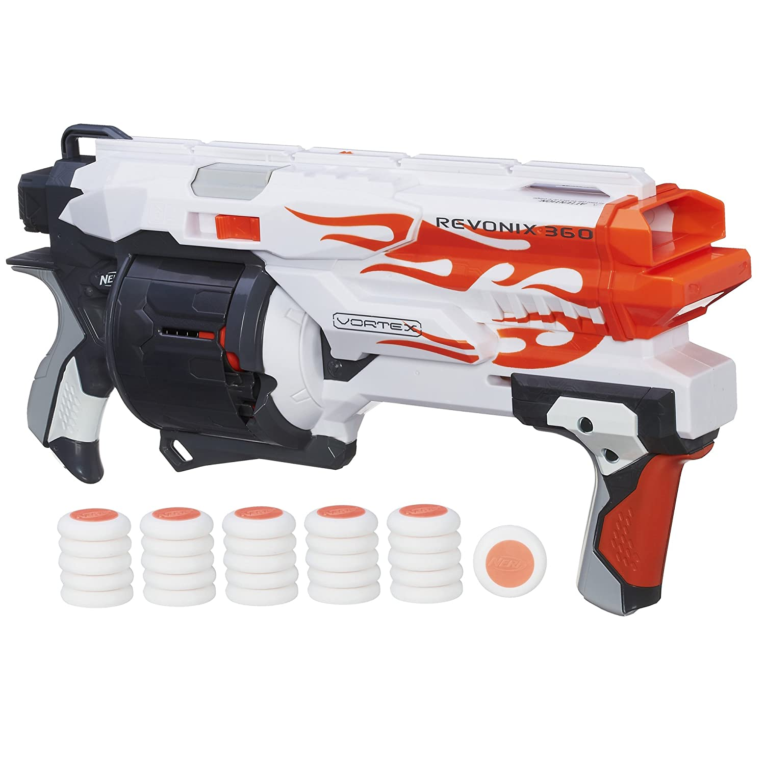 Blast into intense, blazing, Nerf action with the new 68 mph Rival Apollo  XV-700