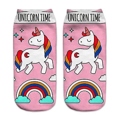Calcetines tobilleros deportivos, de la marca Jysport, con estampado de unicornio, unicorn time