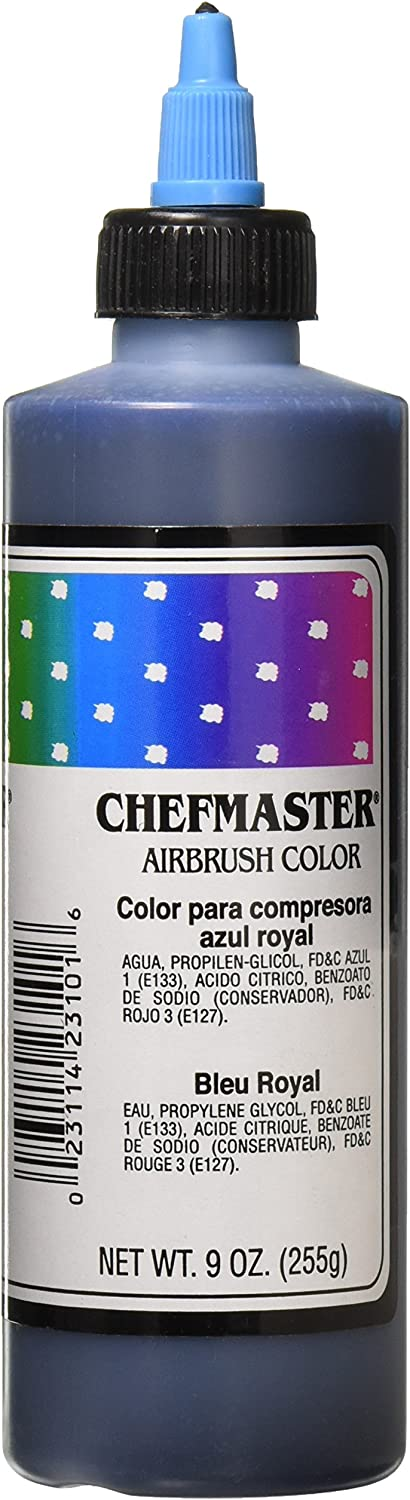 Chefmaster Airbrush Spray Food Color, 9-Ounce, Royal Blue