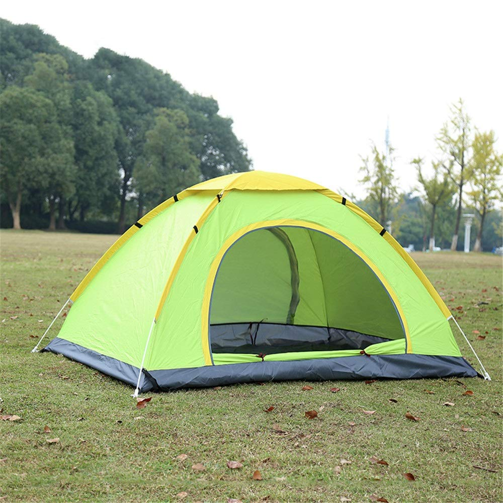 Leoconfiance Camping Zelt Backpacking Pop Up Camping Zelt für Personen, 3-4 Personen, für Doppelschichten Automatische Self Outdoor Wandern Zelte wasserdicht mit Tragetasche Wasserdichtes Kuppelzelt (Farbe   Blau) 911888