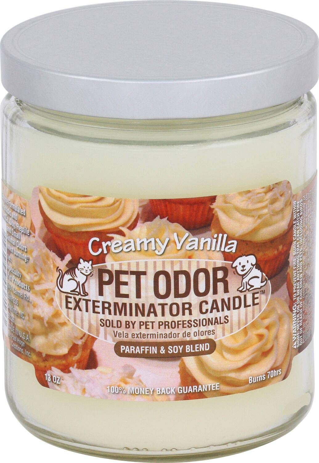 Pet Odor Exterminator Specialty Pet Products Candle, Creamy Vanilla, 13oz - Pack of 2