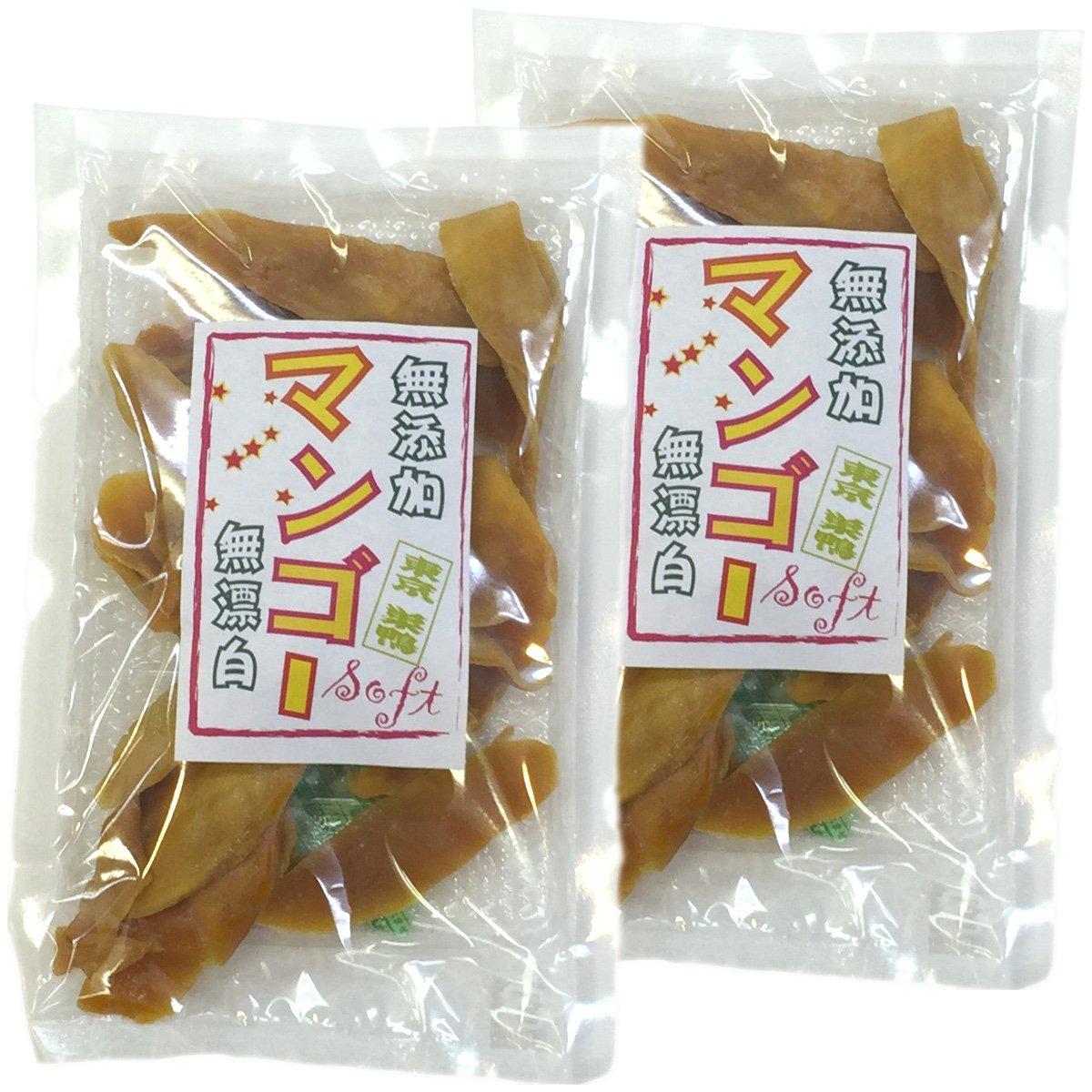 Japanese Tea Shop Yamaneen Dry Mango Without Additives Bleach-Lessness 160G x 2packs