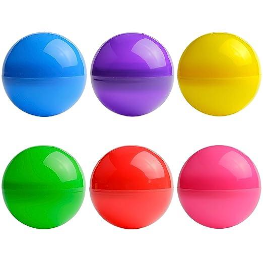 7 pcs Gumball Machine Capsule 7 Colors Bulk Vending Machine Capsules Empty Uniform Colored Round Capsules Big Size 3 inch 75 mm