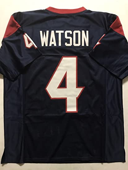 3f85becfe73 Unsigned Deshaun Watson Houston Blue Custom Stitched Football Jersey Size  XL New No Brands/Logos
