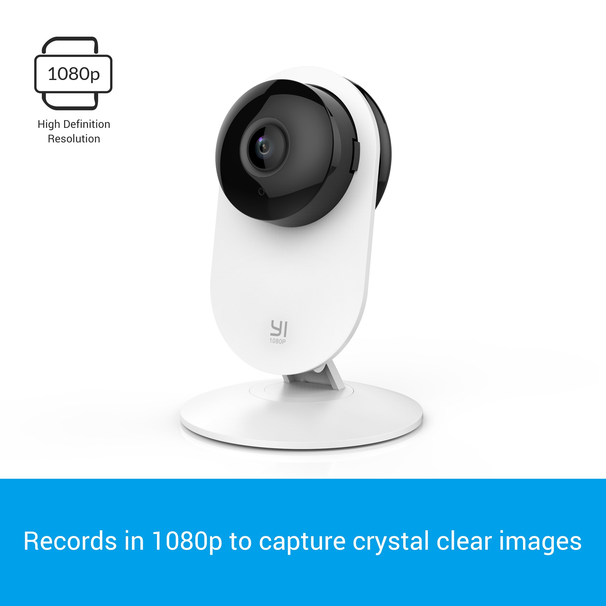 YI 1080p Home Camera, Indoor IP Security Surveillance System with Night Vision for Home/Office/Baby/Nanny/Pet Monitor with iOS, Android App - Cloud Service Available by YI (Image #2)