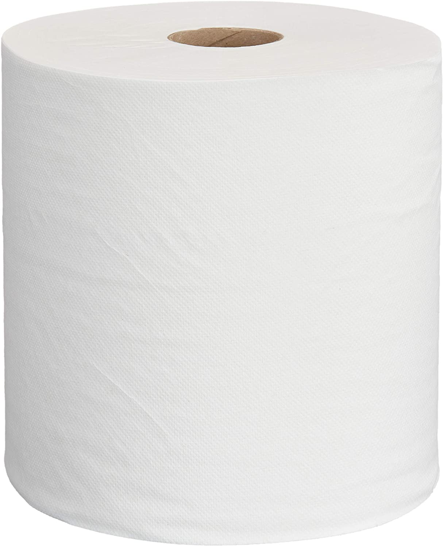 AmazonCommercial Hard Roll Towels, 800 Feet per Roll, 6 Rolls