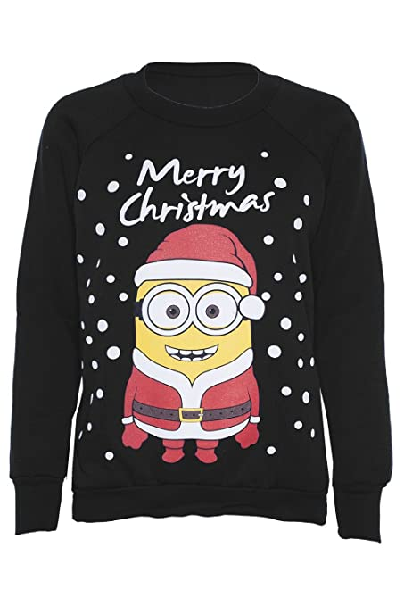 womens novelty christmas minionolaf print sweatshirt jumper at amazon womens clothing store - Minion Christmas Sweater