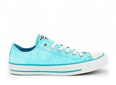 fb5f7c38f53d4 Converse Basket Basse Chuck Taylor All Star tie and Dye Ox Turquoise Toile  - Bleu -