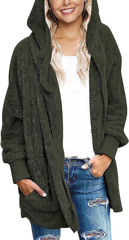 suave tallas S a XXXXXXXL Sudadera de forro polar con capucha para mujer el/ástica c/ómoda con bolsillos delanteros