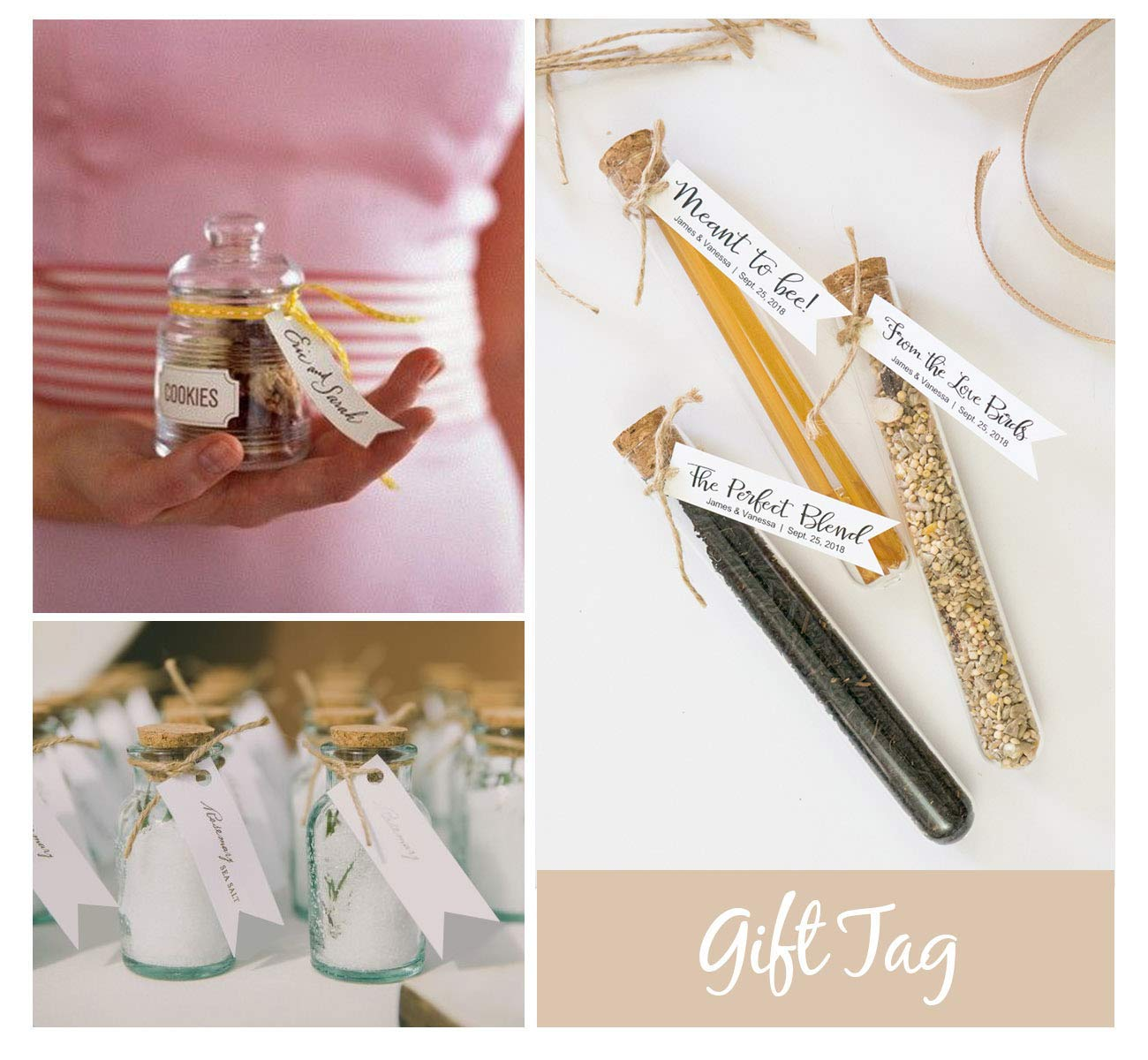 compleanni e Natale Etichette regalo di tag di carta kraft tag regalo e corda di rosso 10 M per i regali di etichette dei prezzi per matrimoni