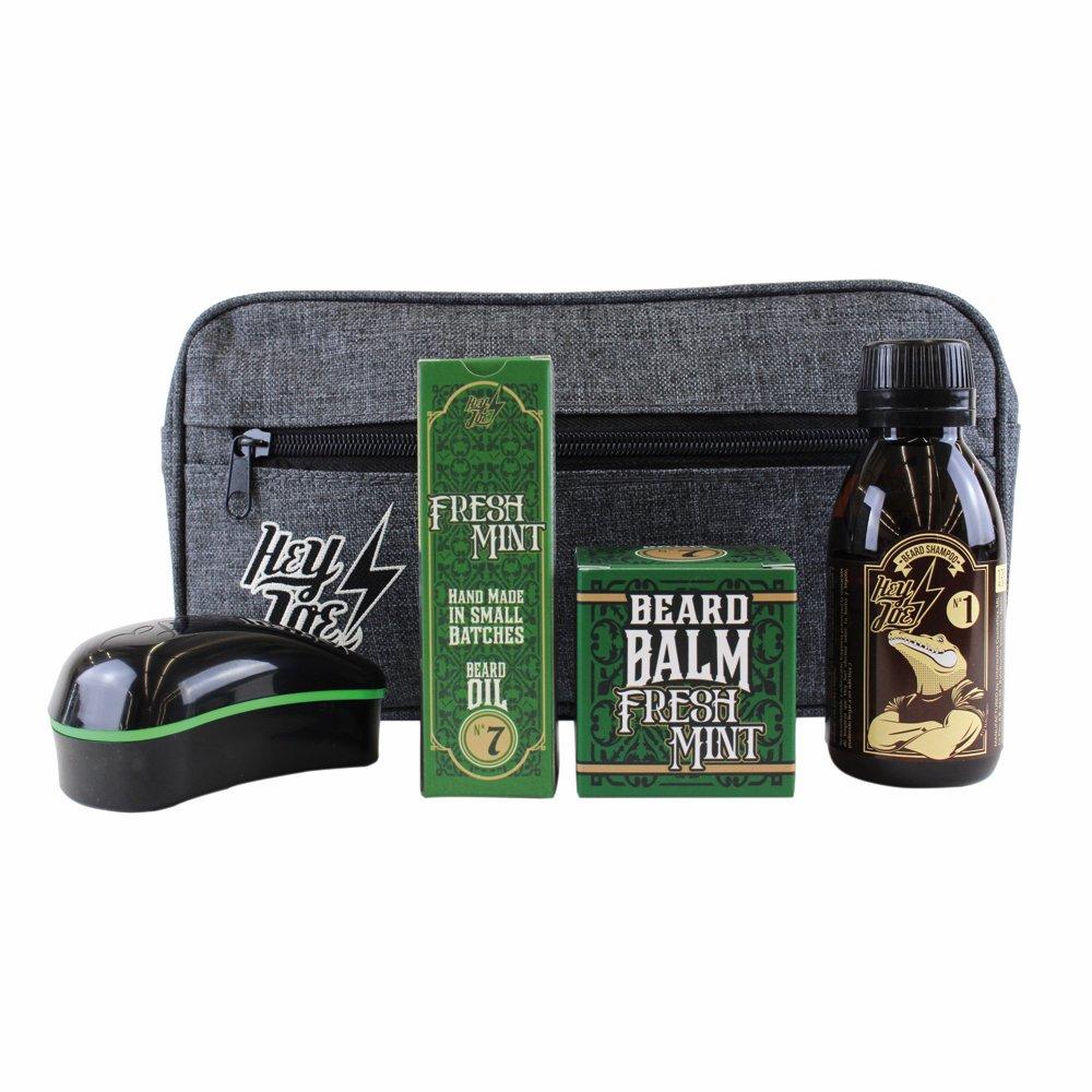 Hey Joe–Bearded Survival Kit Deluxe N. 7| Kit di Arreglo Barbas che include: Olio, Balsamo, Shampoo, Spazzola per barba e astuccio in regalo INTERACTIVE COSMETICS SRL