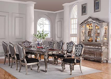 Chantelle 9 Piece Dining Set With Hutch/buffet