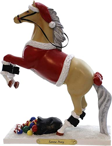 Enesco Trail of Painted Ponies Santa Pony Figurine, 8.5-Inch
