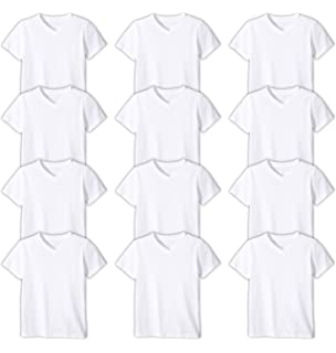 5f661acc8 Andrew Scott Boys'12 Pack V Neck T Shirt Cotton Color Undershirts - Bonus  Pack